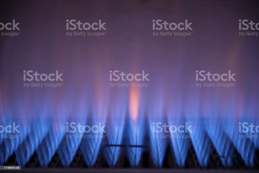 gas fire stock photo