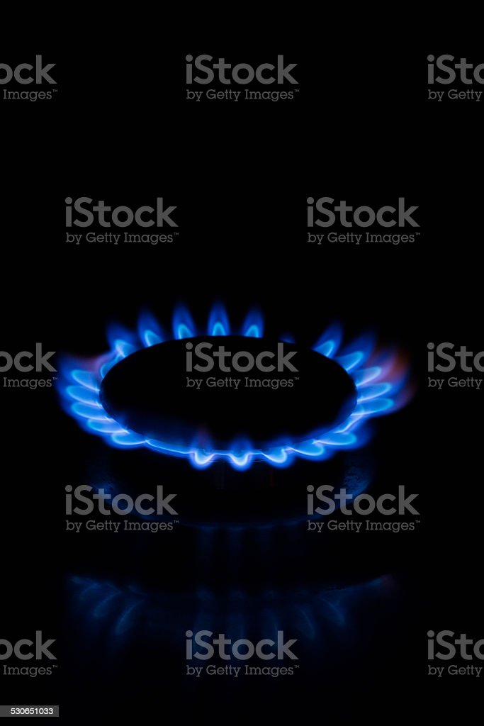 Gas fire. stock photo