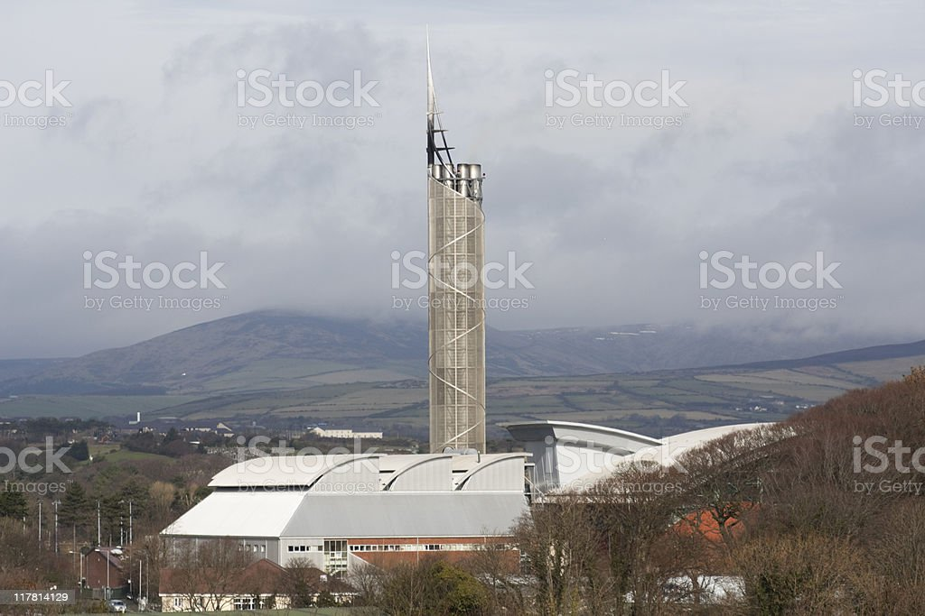 gas fired power station royalty-free stock photo