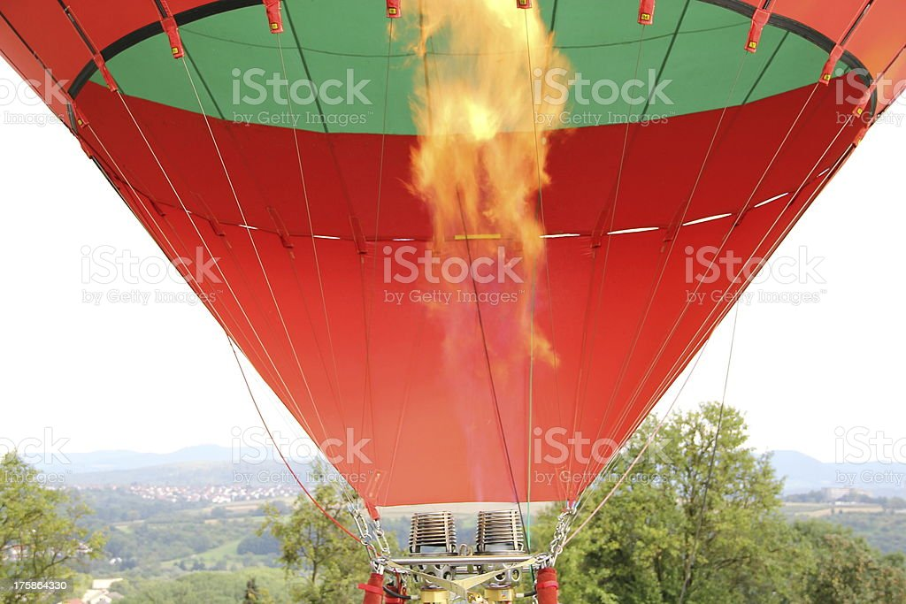 Gas flame in a hot air balloon royalty-free stock photo