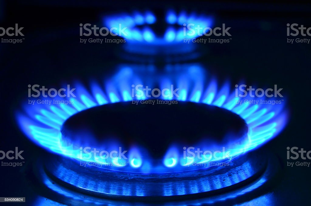 Gas flames stock photo
