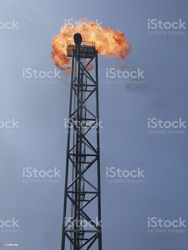 Gas Flare royalty-free stock photo