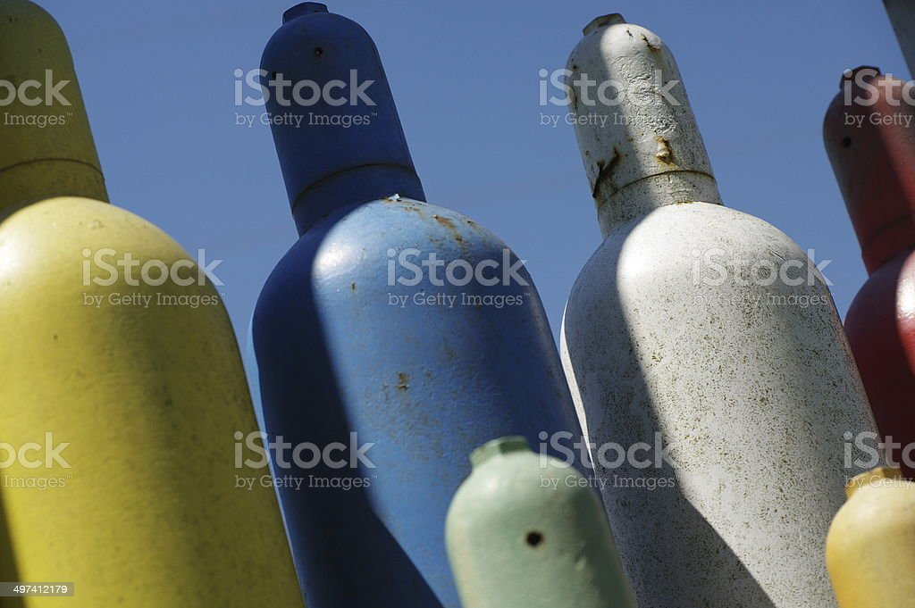 Gas for welding stock photo