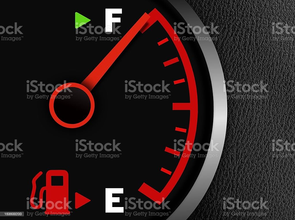 Gas full meter stock photo