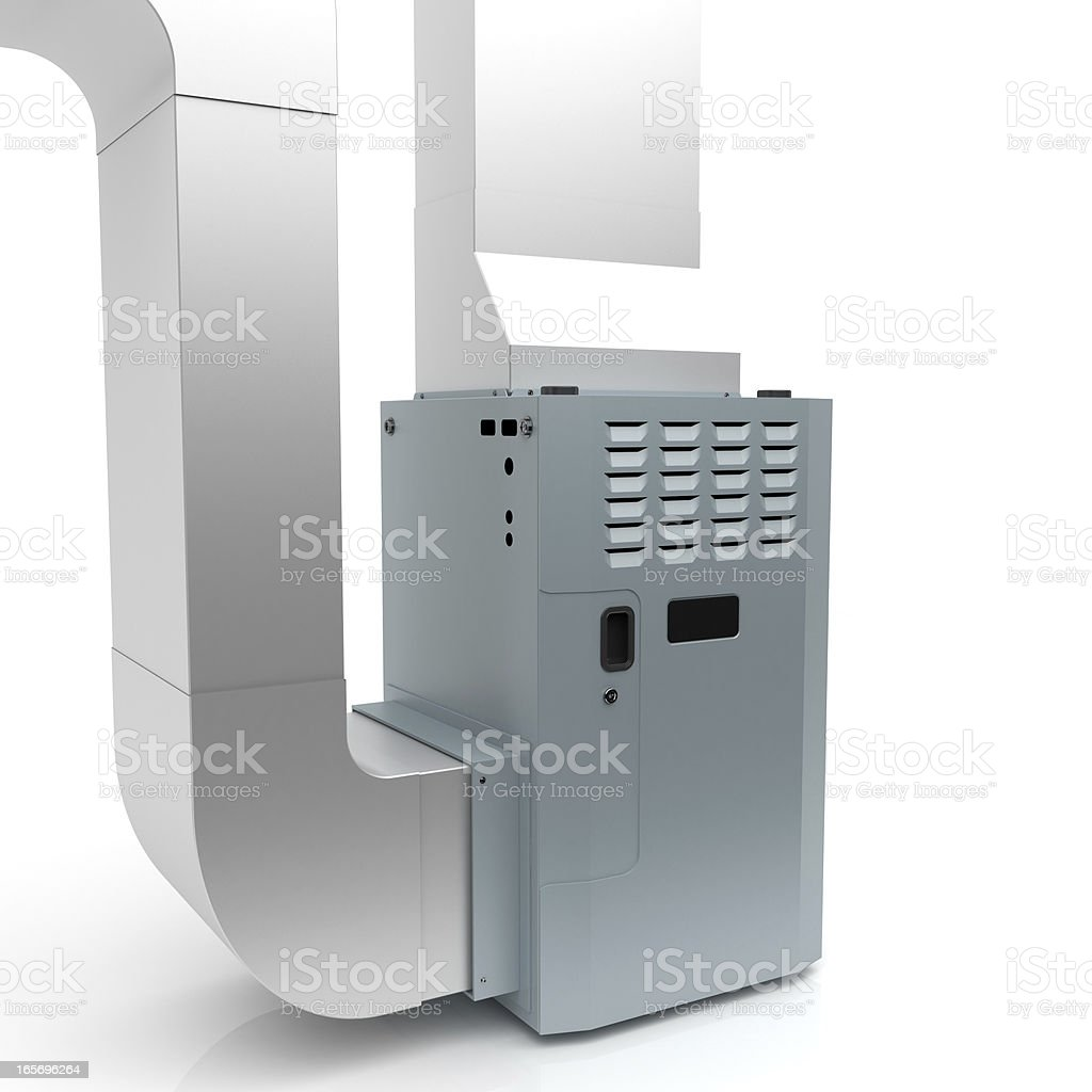 Gas Furnace royalty-free stock photo