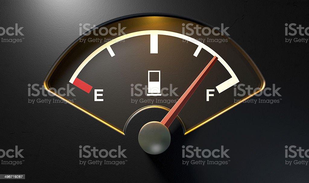Gas Gage Illuminated Full stock photo