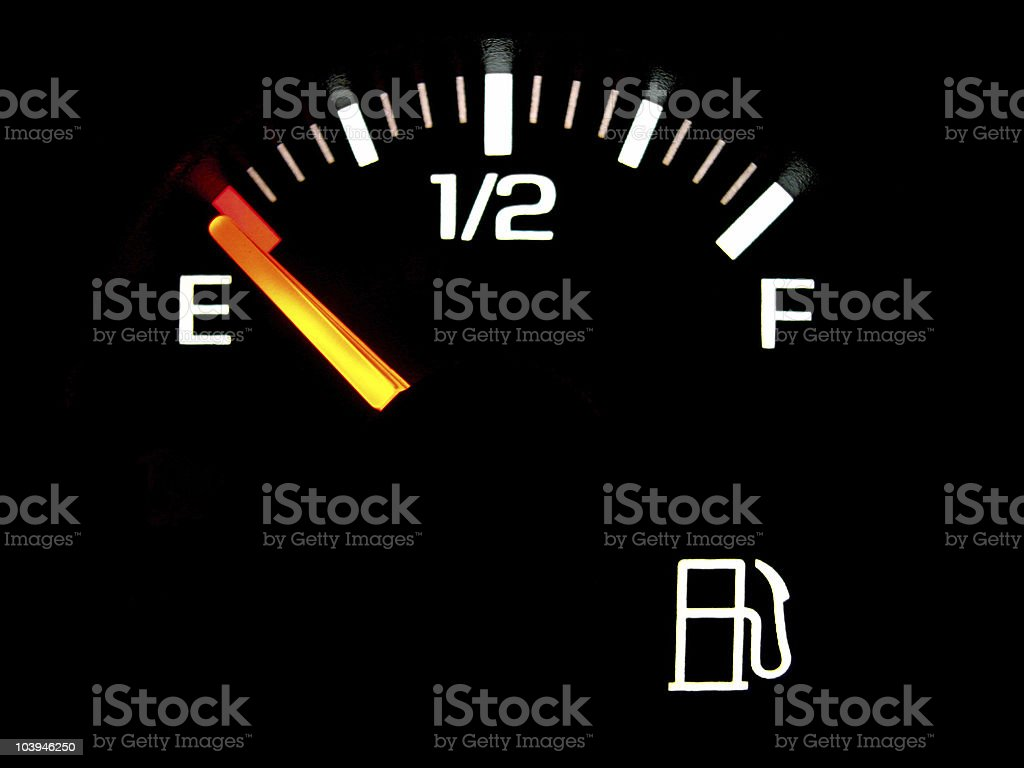 gas gauge stock photo