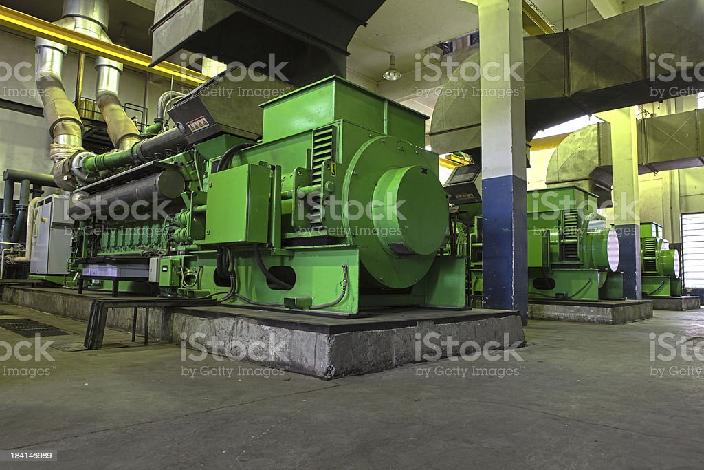Gas Generator XXXL HDR stock photo