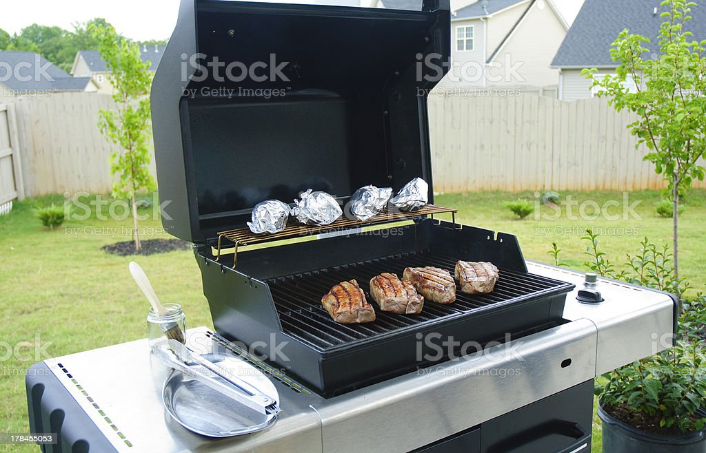 Gas Grill stock photo