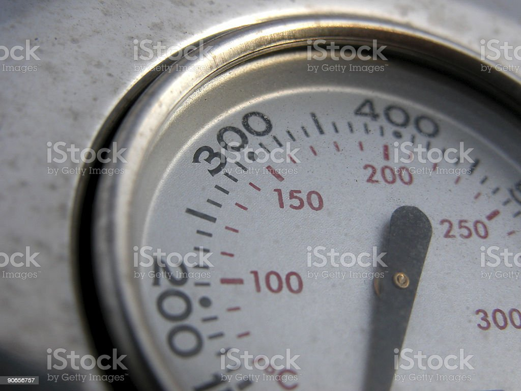 Gas Grill Thermometer stock photo