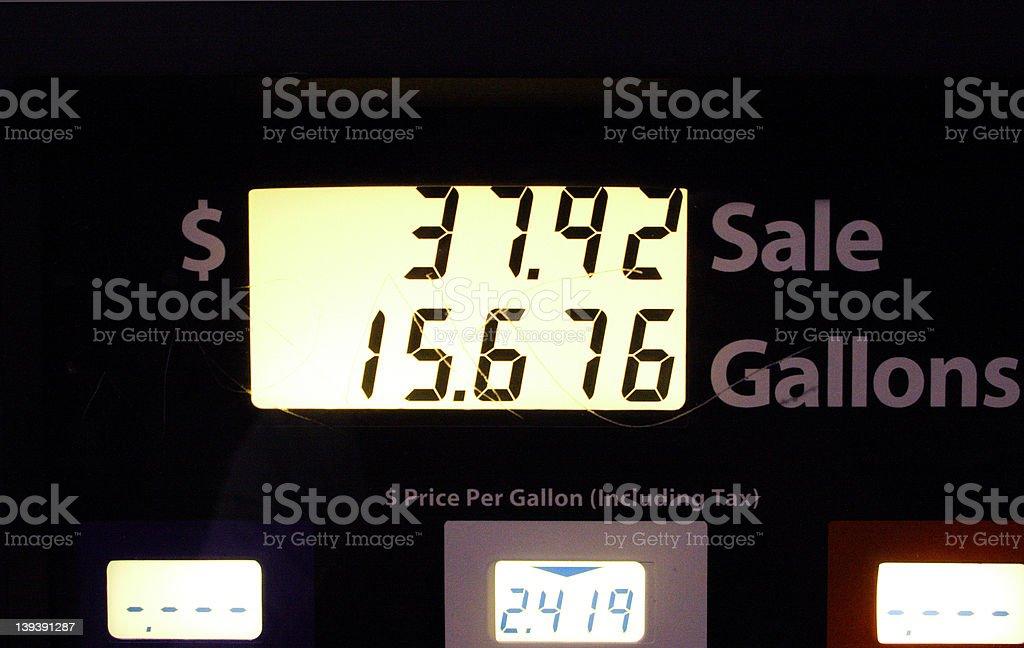 Gas Hike! stock photo