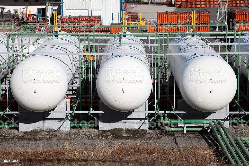 Gas holders stock photo