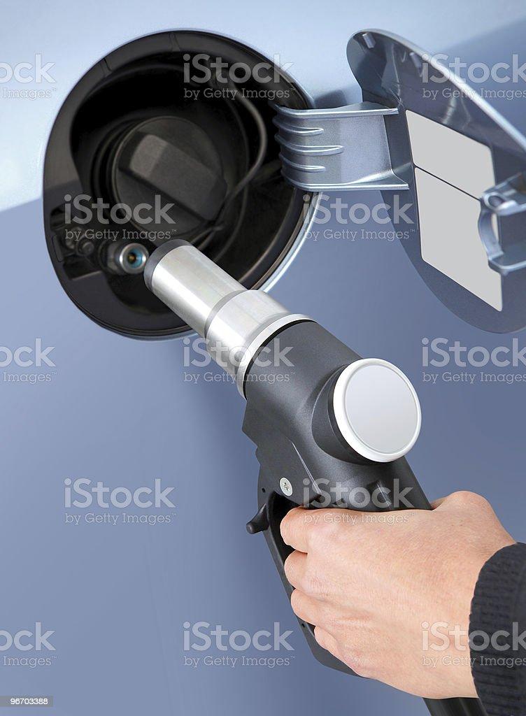 gas into the car stock photo