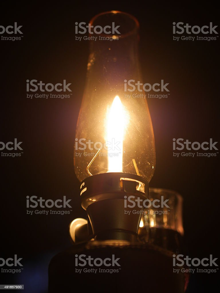 gas lamp night flame stock photo