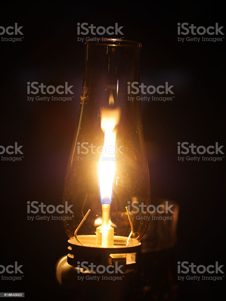 gas lamp night flame stock photo