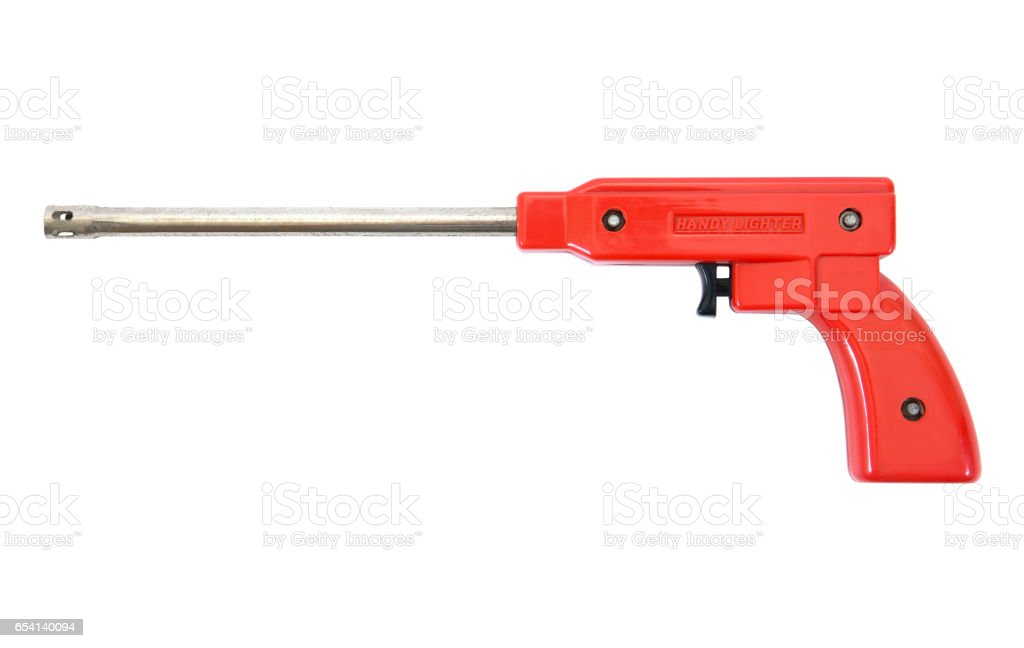 Gas lighter gun for gas stove and gas kitchen stock photo