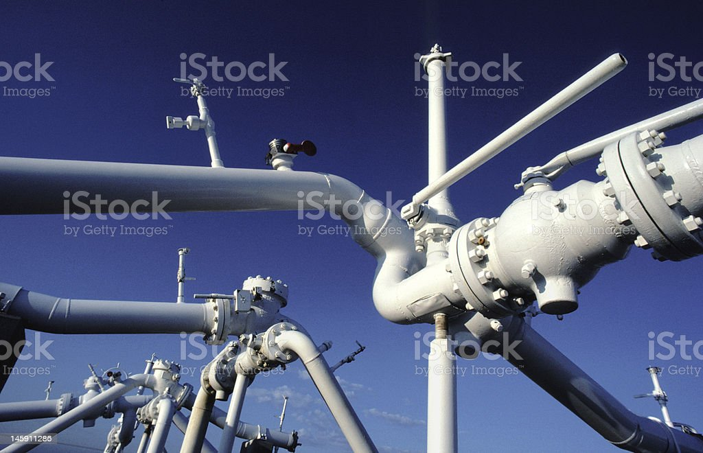 Gas Lines stock photo