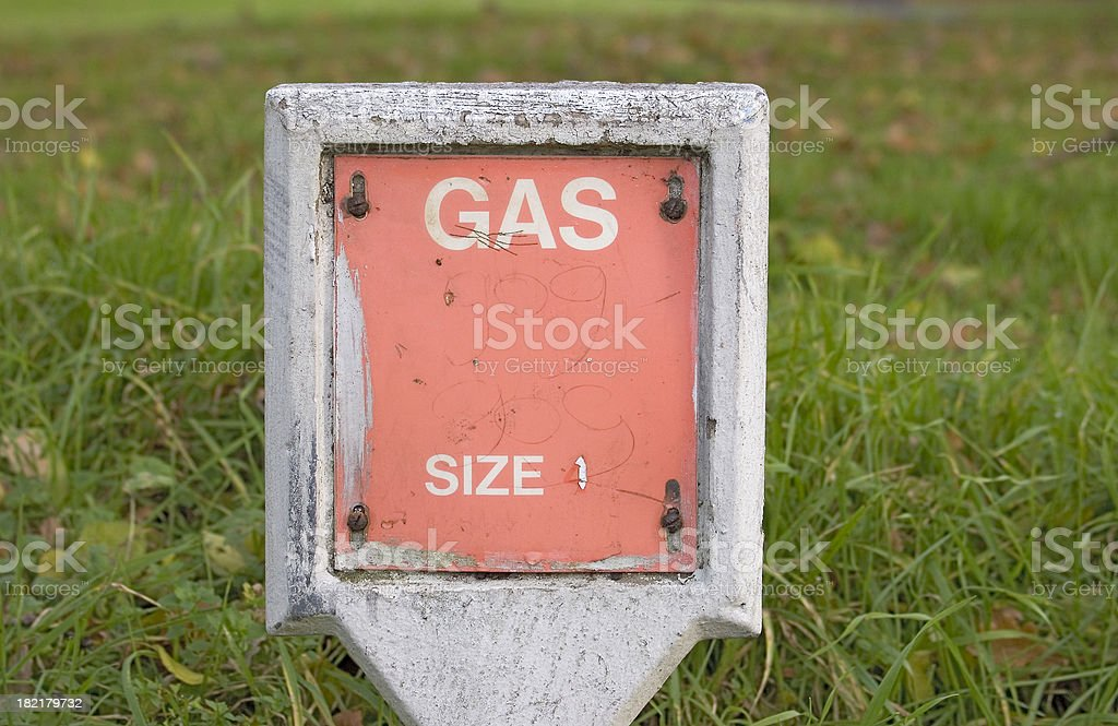 Gas marker stock photo