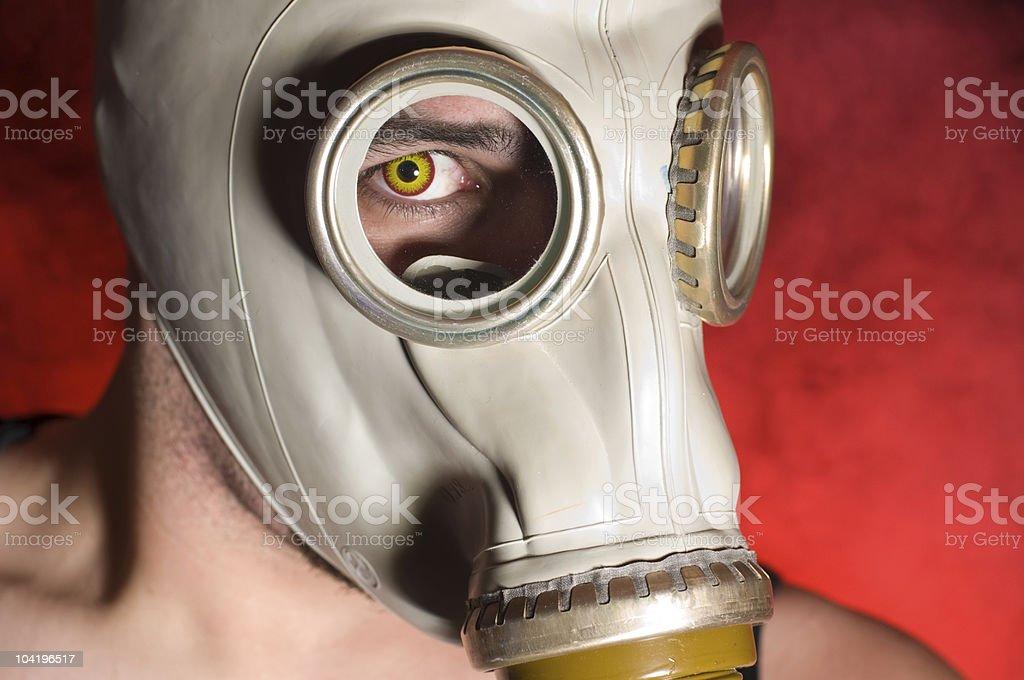 Gas Mask Horror stock photo