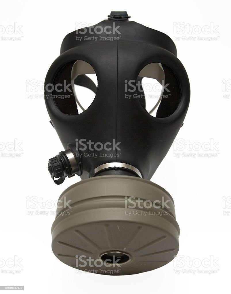 Gas mask isolated royalty-free stock photo