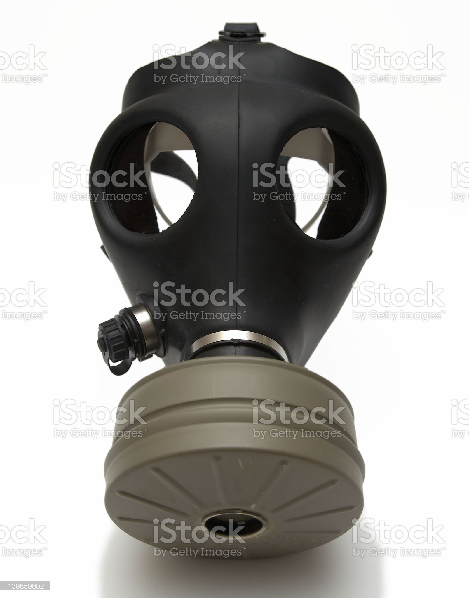 Gas mask isolated + shadow royalty-free stock photo