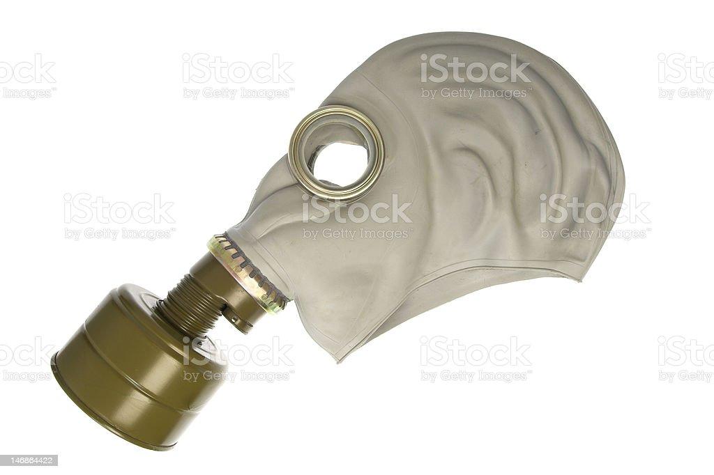 gas mask on white profile stock photo