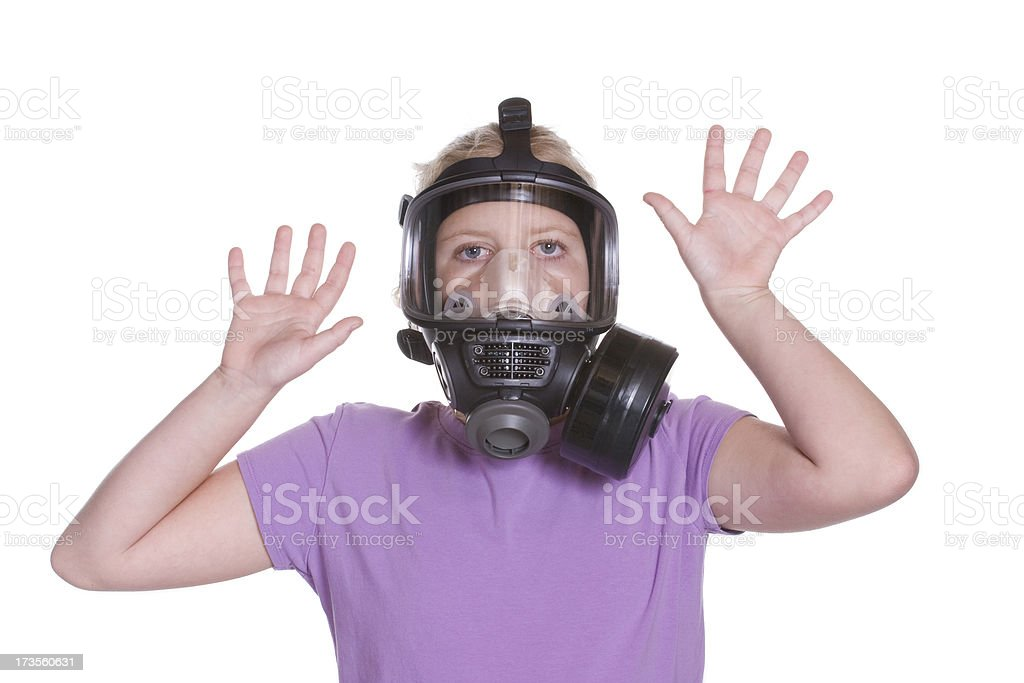 Gas Mask - Trapped stock photo