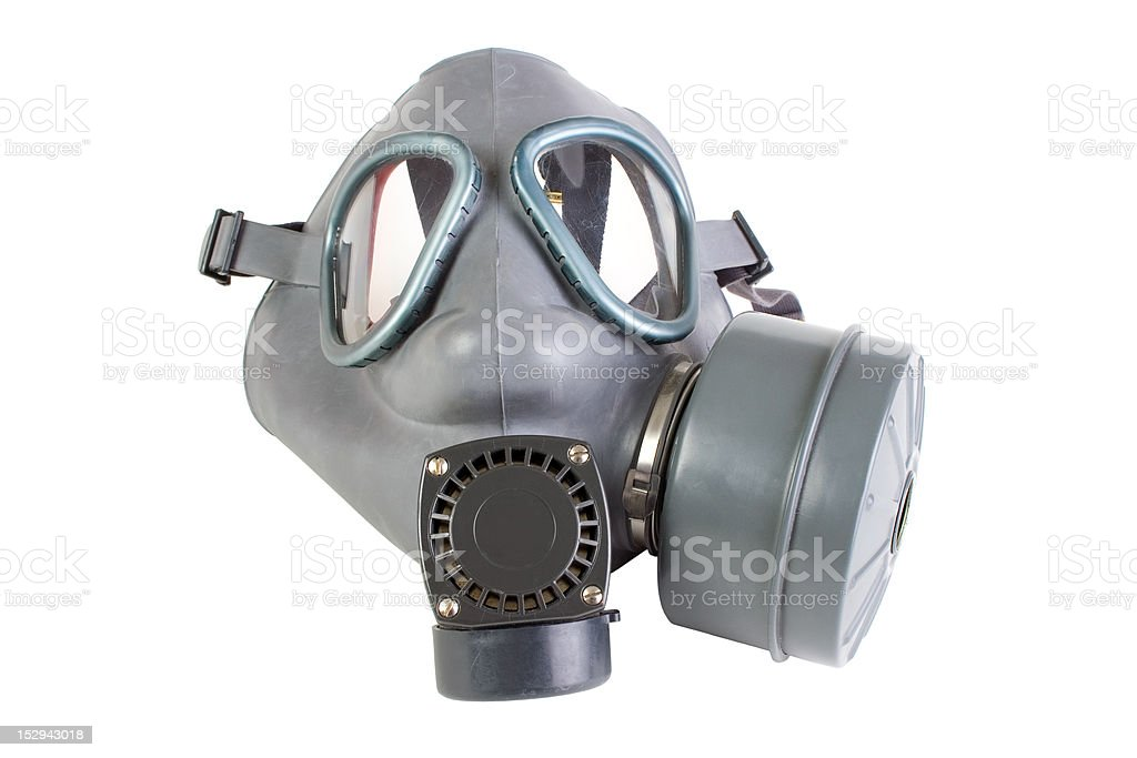 Gas mask with filter royalty-free stock photo