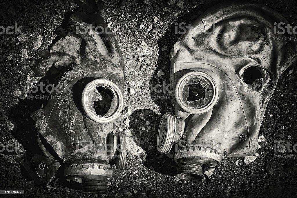 Gas masks. stock photo