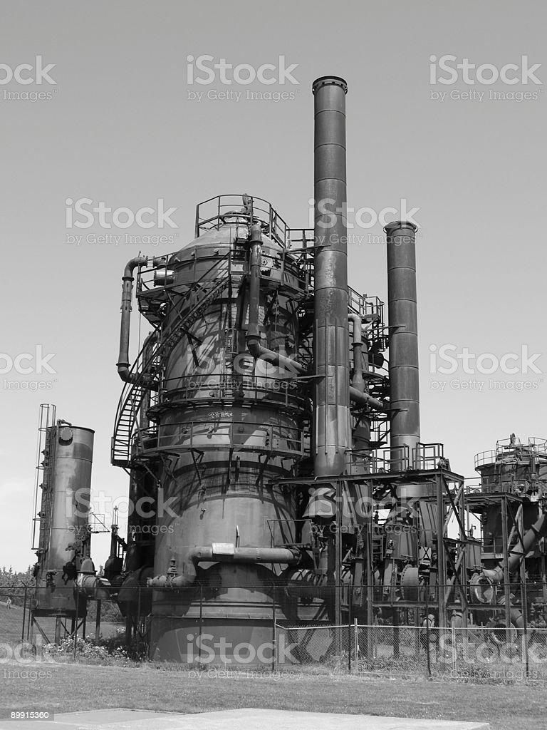 Gas mechanics royalty-free stock photo
