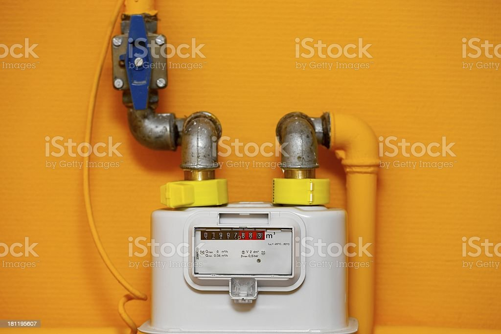 Gas meter royalty-free stock photo
