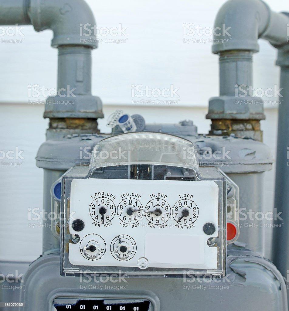 Gas Meter Readings royalty-free stock photo