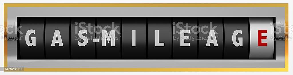 Gas Mileage stock photo