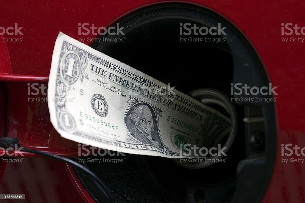Gas Money 2 royalty-free stock photo