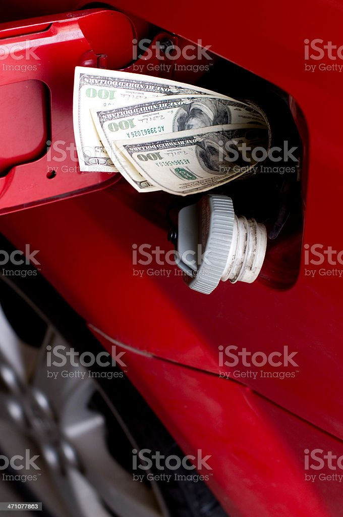 Gas Money royalty-free stock photo