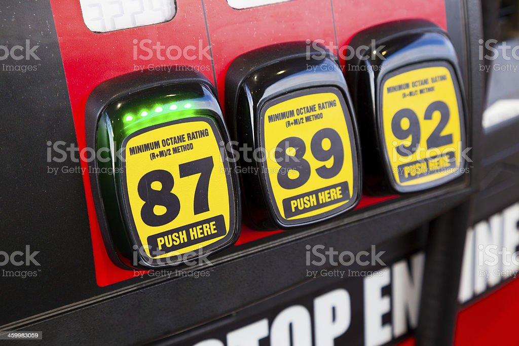 Gas Octane Options stock photo