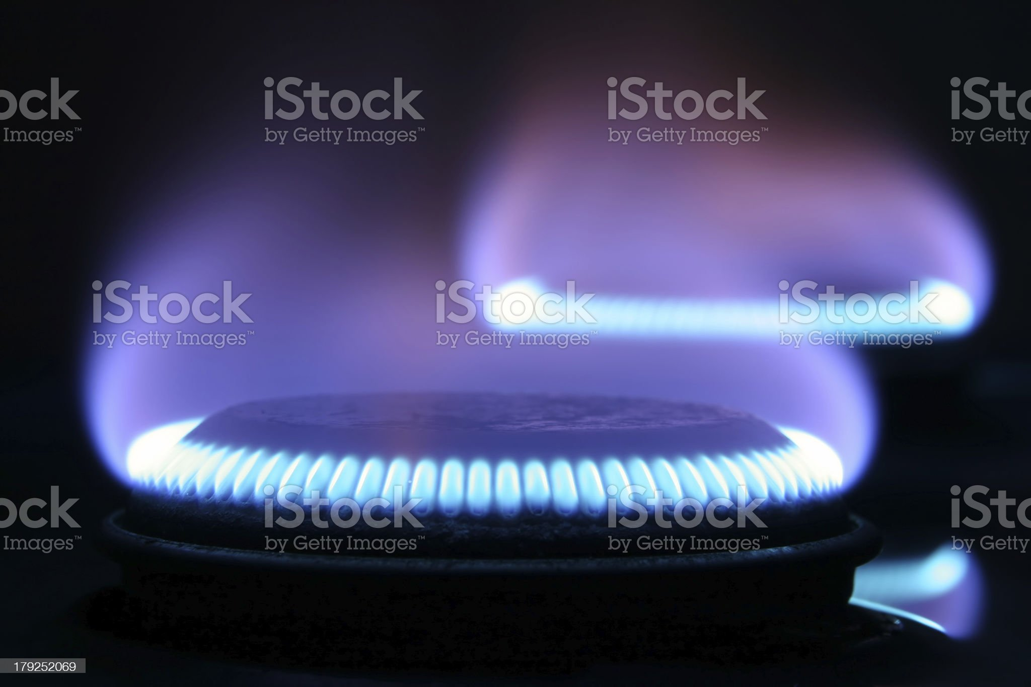 Gas on stove royalty-free stock photo