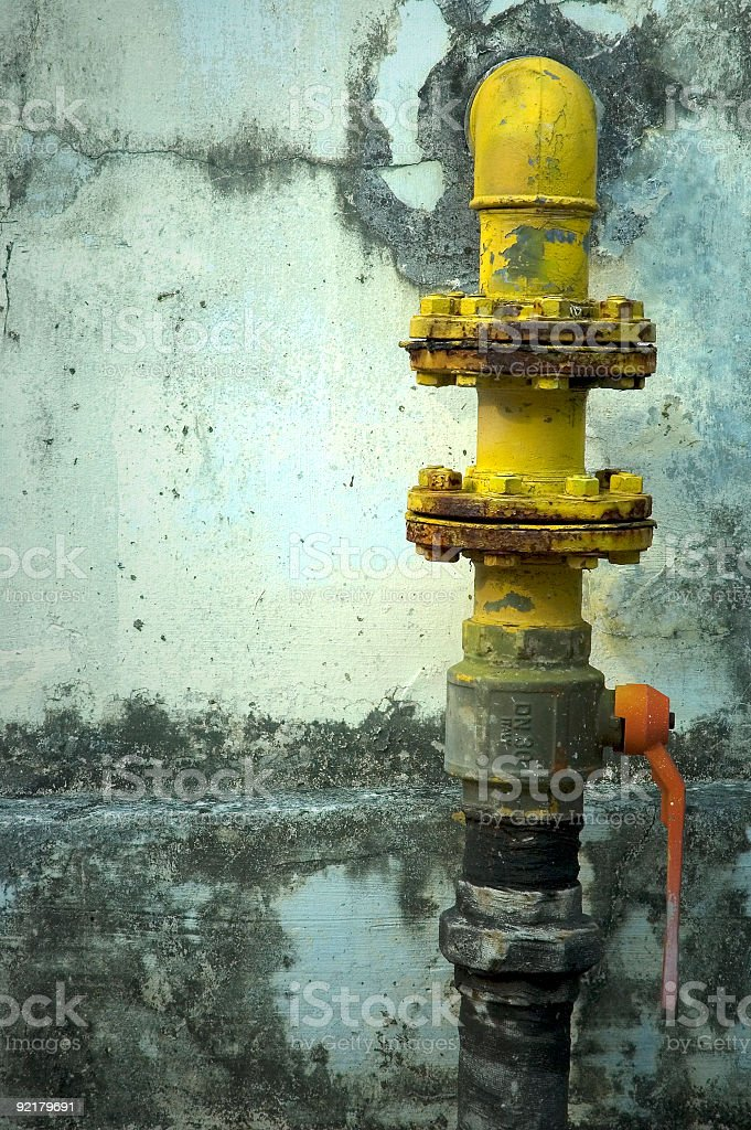 Gas Pipe royalty-free stock photo