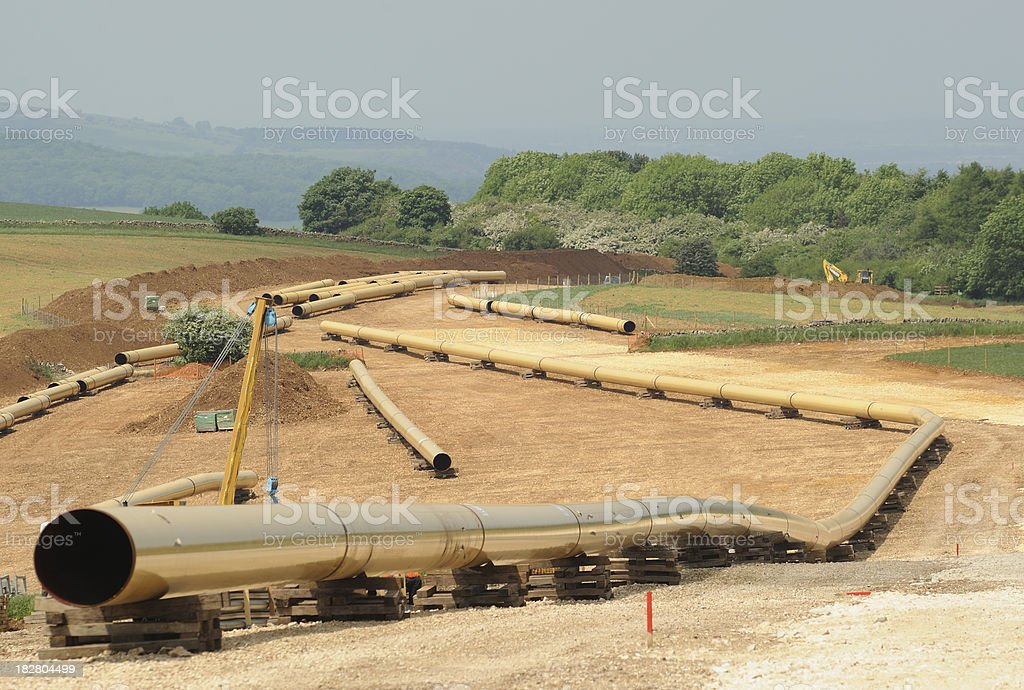 Gas Pipeline Construction royalty-free stock photo