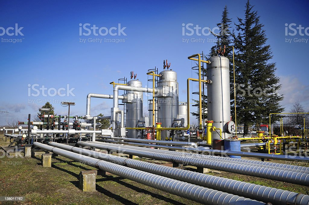 Gas Pipeline Equipment royalty-free stock photo