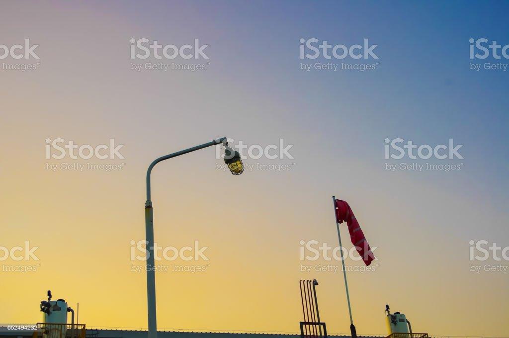 Gas pipeline equipment stock photo
