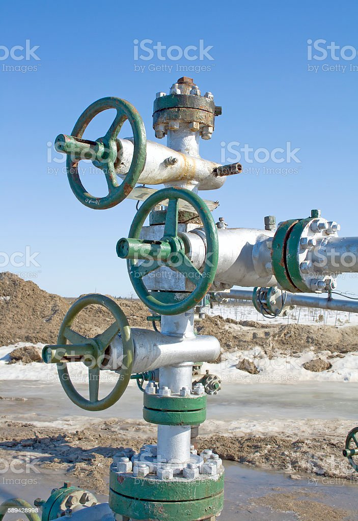 Gas pipeline latch stock photo