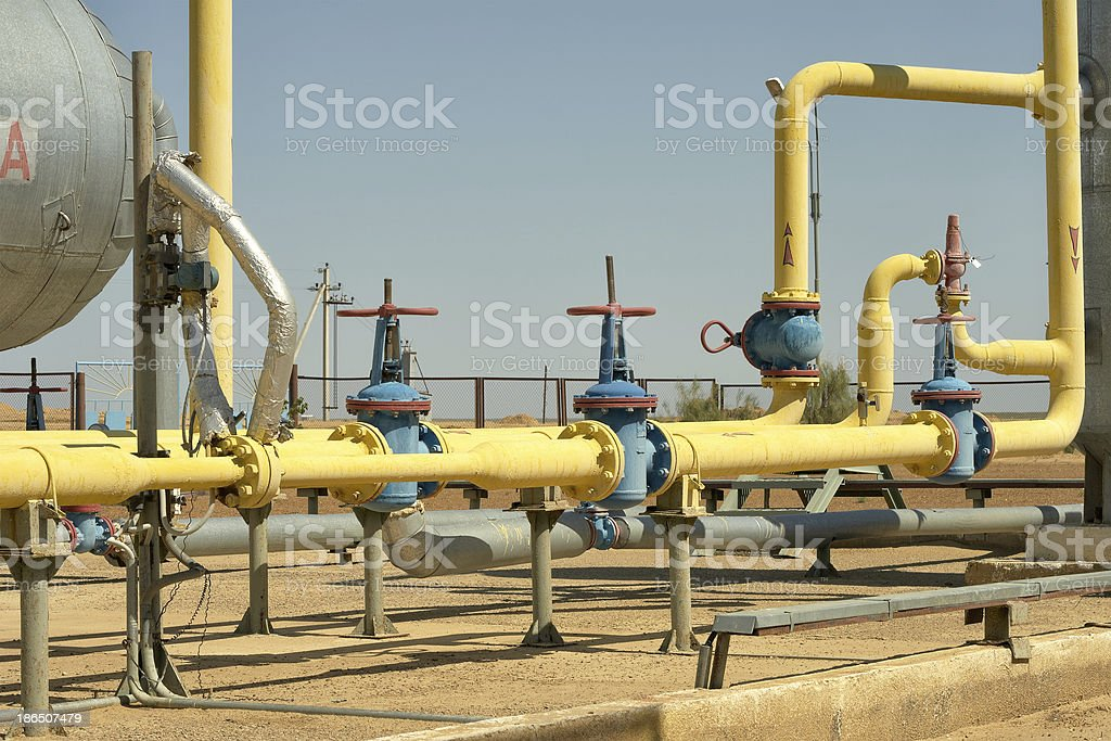 Gas pipeline. royalty-free stock photo