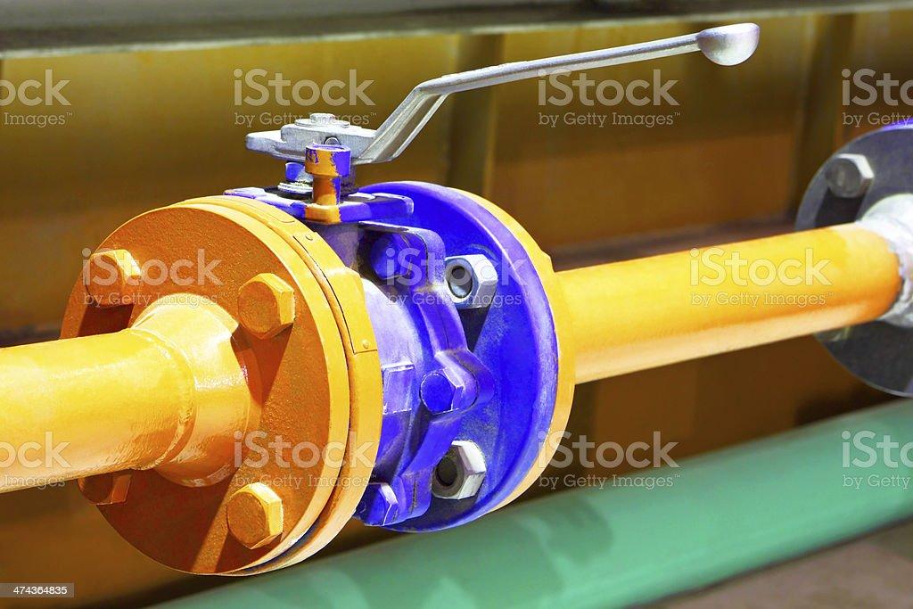 Gas pipeline valve royalty-free stock photo