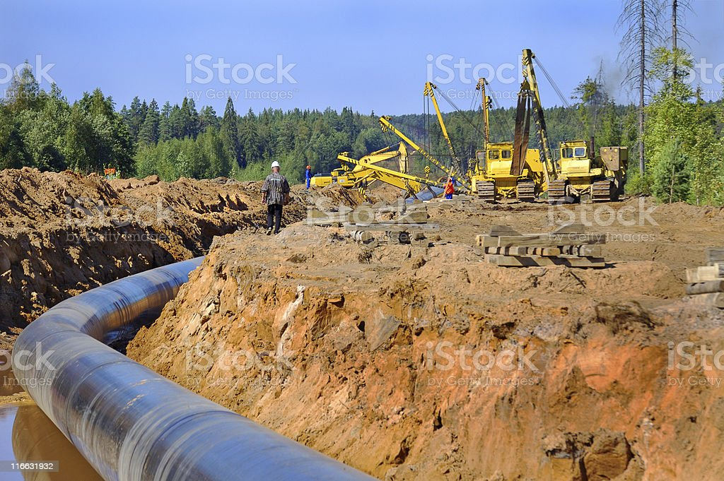 Gas pipeline, variant 2 stock photo