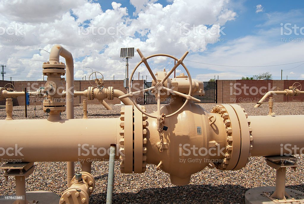 Gas Pipline stock photo