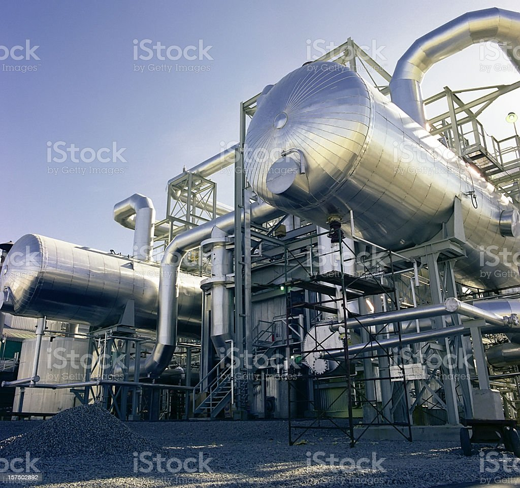 Gas Plant Detail royalty-free stock photo