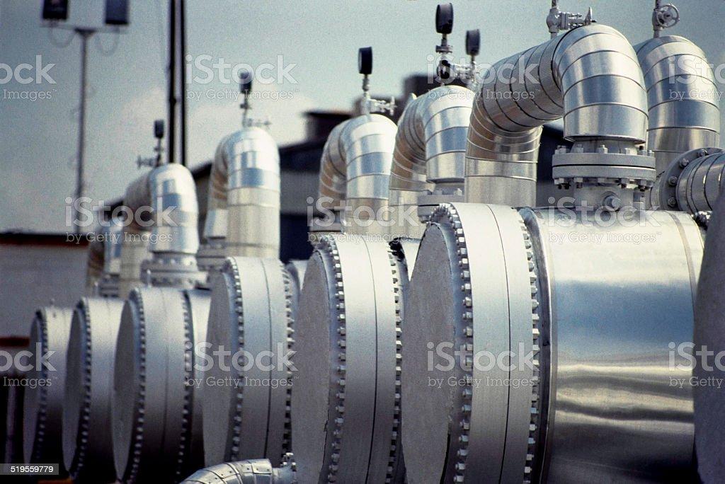 Gas Plant Detail stock photo