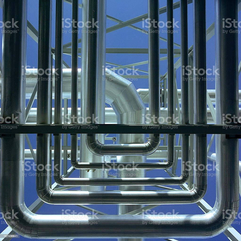 Gas Plant Geometry royalty-free stock photo
