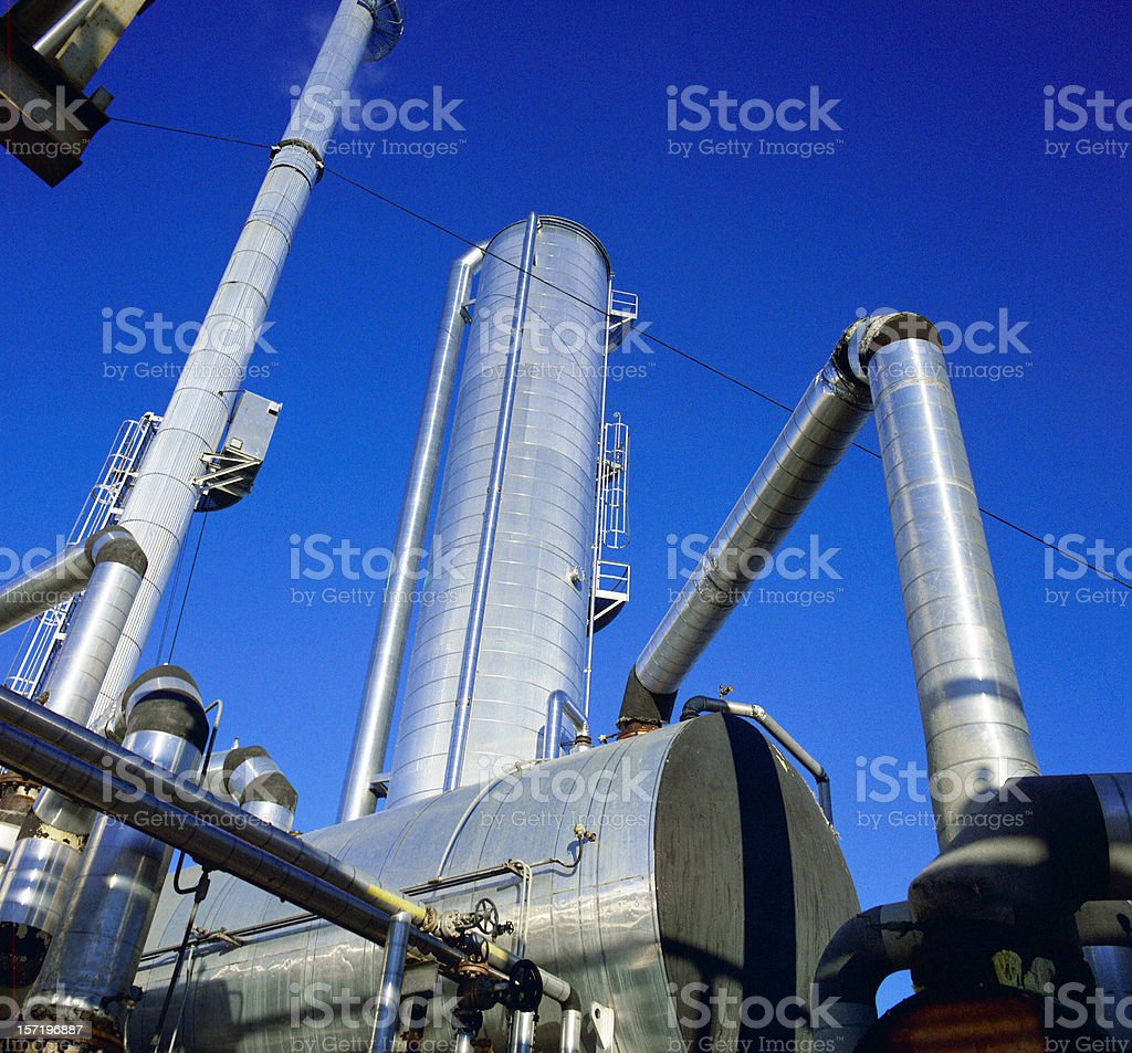 Gas Plant royalty-free stock photo